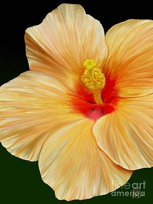 Art Print featuring the painting Yellow Hibiscus by Rand Herron