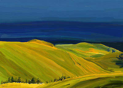 Painting - Yellow Hills by Eliza Donovan