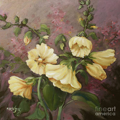 Yellow Holyhock Art Print by Marta Styk