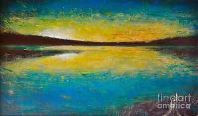 Painting - Yellow Horizon by Martin Capek