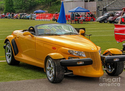 Photograph - Yellow Hot Rod by Chris Anderson