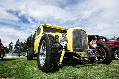 Photograph - Yellow Hot Rod by Ron Roberts