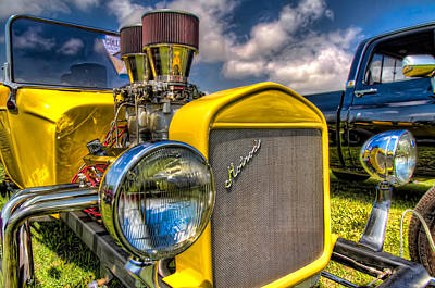 Car Images Photograph - Yellow Hotrod by Tim Stanley