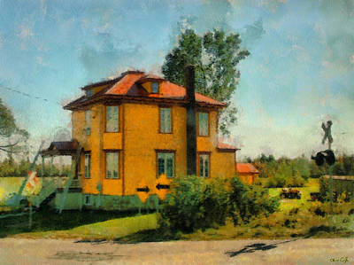 Yellow House Art Print by Chris Coyle