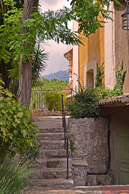 Photograph - Yellow House In Eze France by Joanne Grant