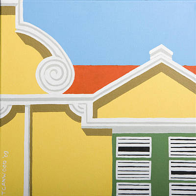 Saba Painting - Yellow House by Trudie Canwood