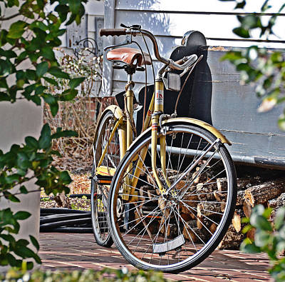 Photograph - Yellow Huffy by Linda Brown
