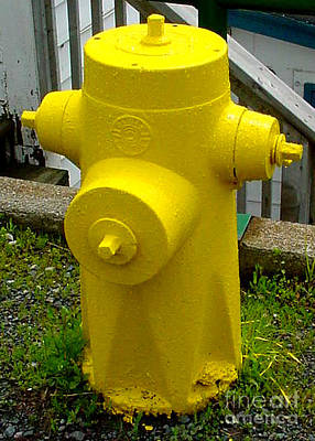 Mixed Media - Yellow Hydrant by Art  MacKay