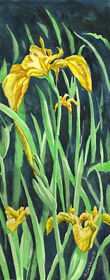 Painting - Yellow Iris by Richard De Wolfe