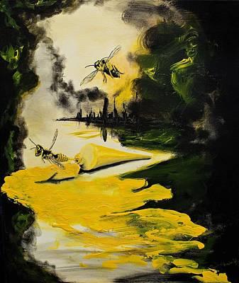 Yellow Jackets Art Print