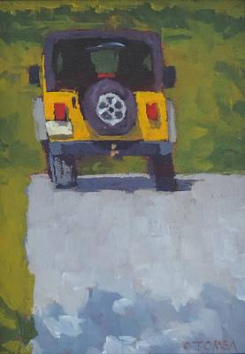 Painting - Yellow Jeep - Art By Bill Tomsa by Bill Tomsa