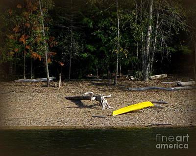 Yellow Kayak Art Print by Leone Lund