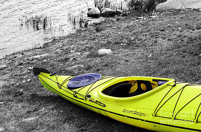 Photograph - Yellow Kayak by Nina Silver