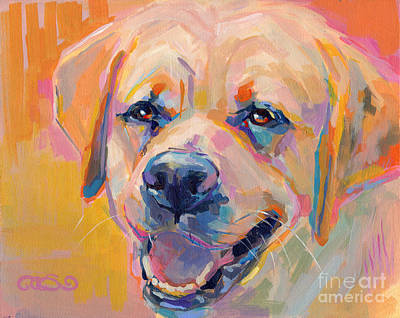Yellow Lab Painting - Yellow by Kimberly Santini