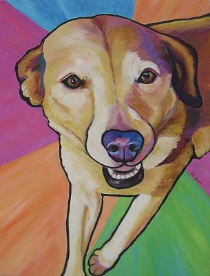 Painting - Yellow Lab - Maddie by Janet Burt