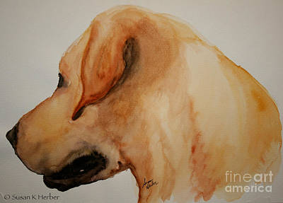 Painting - Yellow Lab by Susan Herber