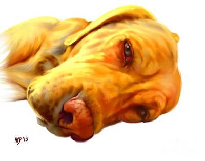 Buy Dog Art Digital Art - Yellow Labrador Art by Iain McDonald