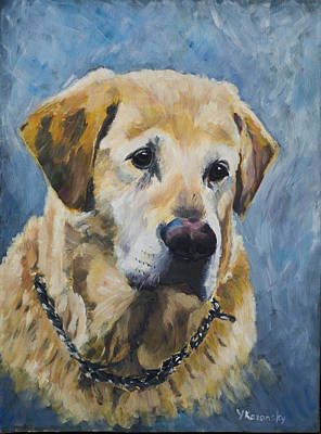Painting - Yellow Lab by Yulia Kazansky