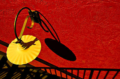 Photograph - Yellow Lamp by Maria Coulson