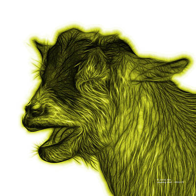 Animal Lover Digital Art - Yellow Laughing Goat - 0312 Fs by James Ahn