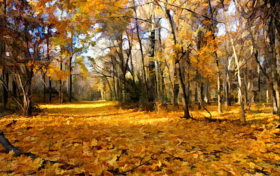 Photograph - Yellow Leaf Road by William Jobes