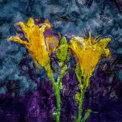 Photograph - Yellow Lilies. by Celso Bressan