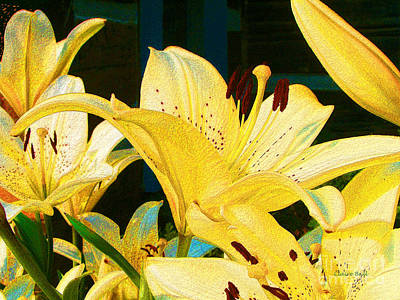 Photograph - Yellow Lilies by Claire Bull