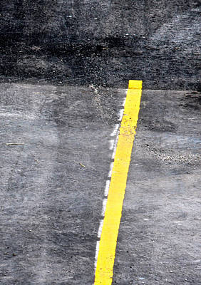Yellow Line Art Print by John Illingworth