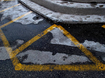 Yellow Lines 2  Art Print by Lyle Crump
