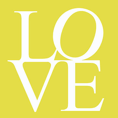 Friendly Digital Art - Yellow Love by Georgia Fowler