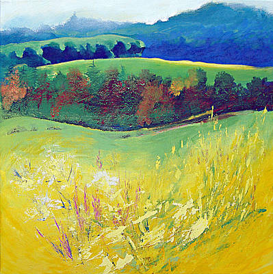 Yorkshire Painting - Yellow Meadow by Neil McBride
