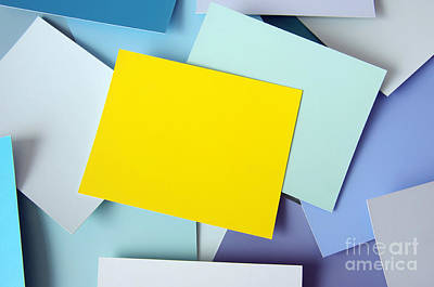 Yellow Memo Art Print by Carlos Caetano