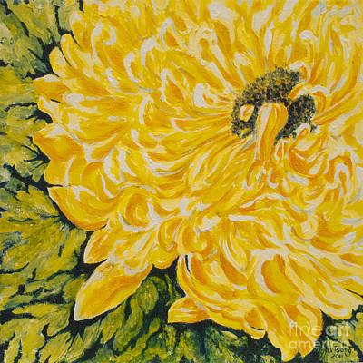 Painting - Yellow Mum by Milly Tseng