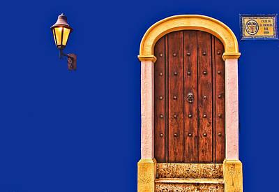 Door And Lamp Art Print