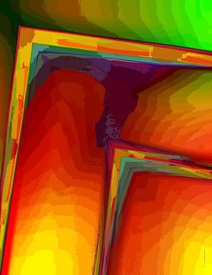 Yellow Orange And Green Design Art Print by Mario Perez