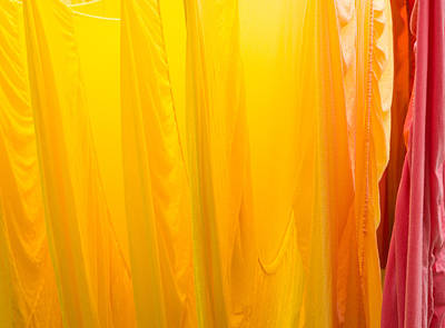 Bed Linens Photograph - Yellow Orange And Red Bed Sheets Bright And Colorful by Matthias Hauser