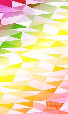 Red Digital Art - Yellow, Orange, Pink, Multicolor by Mademoiselle De Erotic