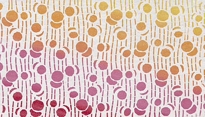 Yellow Orange Pink Red Art Print