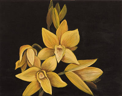 Painting - Yellow Orchid by Darice Machel McGuire