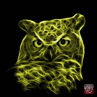 Digital Art - Yellow Owl 4436 - F M by James Ahn