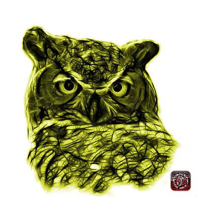 Digital Art - Yellow Owl 4436 - F S M by James Ahn