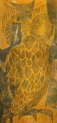 Painting - Yellow Owl by David Burkart