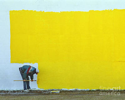 Photograph - Yellow Paint by Tom Brickhouse