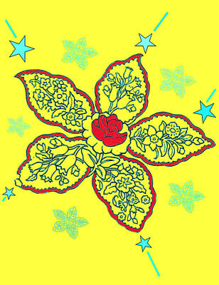 Digital Art - Yellow Paisley Collage by Christine Perry