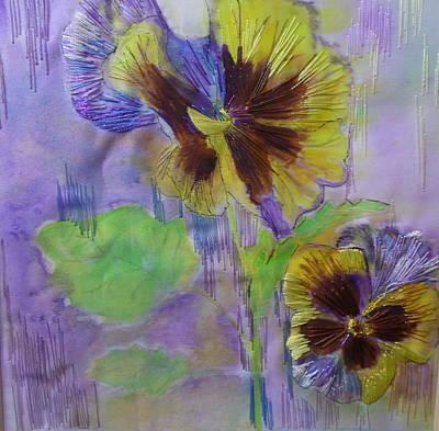 Yellow Pansy Art Print