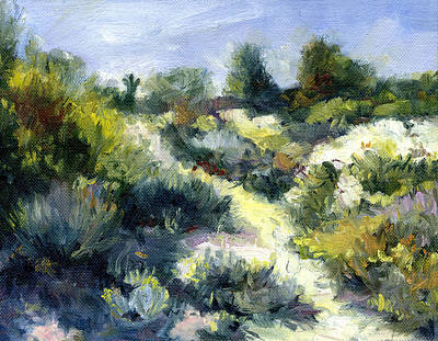Desert Flower Painting - Yellow Path by Stacy Vosberg