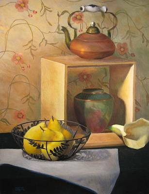 Yellow Pears Original by Susan Goldstein Monahan