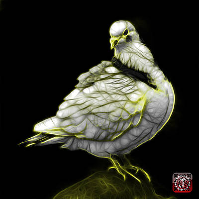 Digital Art - Yellow Pigeon Pop Art 5516 - Fs - Bb -  Modern Animal Artist Jam by James Ahn