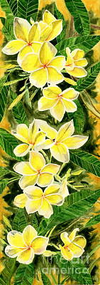 Yellow Plumeria Original by Melly Terpening