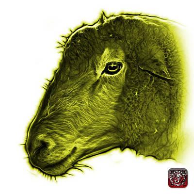 Digital Art - Yellow Polled Dorset Sheep - 1643 Fs by James Ahn